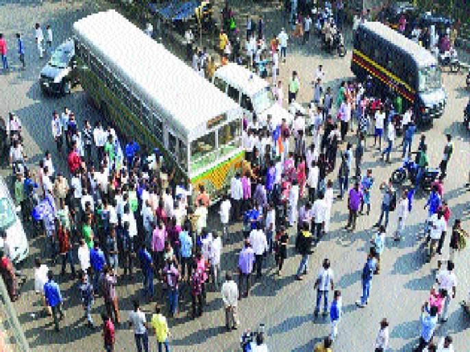 Thackeray 'Bandh': Six policemen injured in Kalyan, Badlapur, Shivsena branch in Kalyan, Railway station ticket in Dombivli | ठाण्यात 'बंद'ला गालबोट : कल्याण, बदलापूरमध्ये सहा पोलीस जखमी, कल्याणमध्ये शिवसेना शाखा, डोंबिवलीत रेल्वे तिकीट खिडकी फोडली