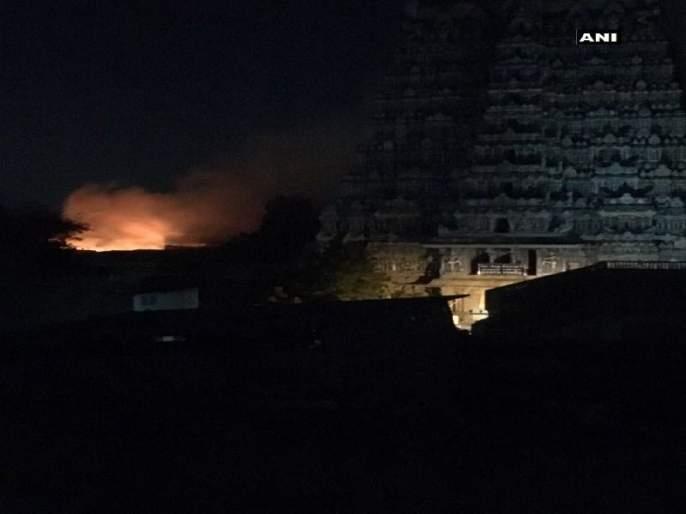 A fire in the historic Meenakshi Temple area in Madurai | मदुराई येथील एेतिहासिक मीनाक्षी मंदिर परिसरात आग