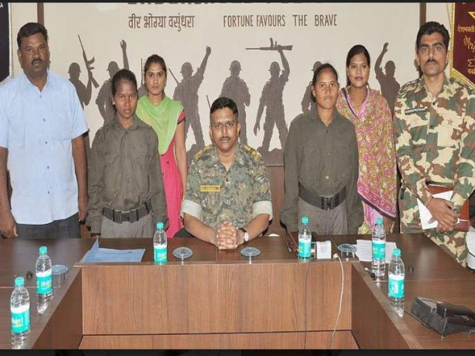Surrender of two women women naxalites in Gadchiroli, Rs.6 lakh prize on both | दोन जहाल महिला नक्षलींचे गडचिरोलीत आत्मसमर्पण, दोघींवर सहा लाखांचे बक्षीस