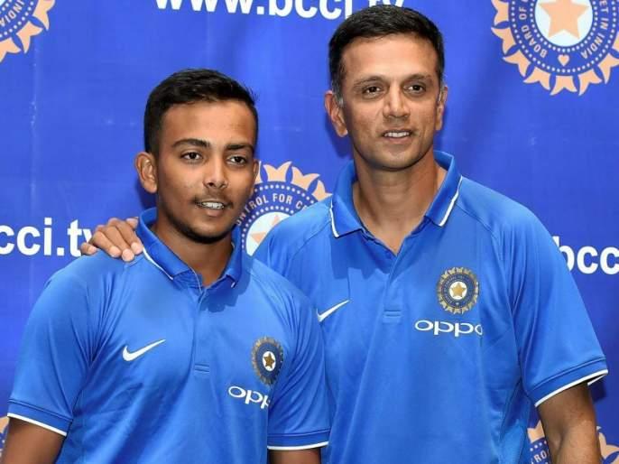 Prithvi Shaw has become a matured player now says his coach Raju Pathak | U19 World Cup final : पृथ्वी शॉ आता परिपक्व खेळाडू बनला आहे, प्रशिक्षक राजू पाठक यांची शिष्याच्या पाठीवर थाप