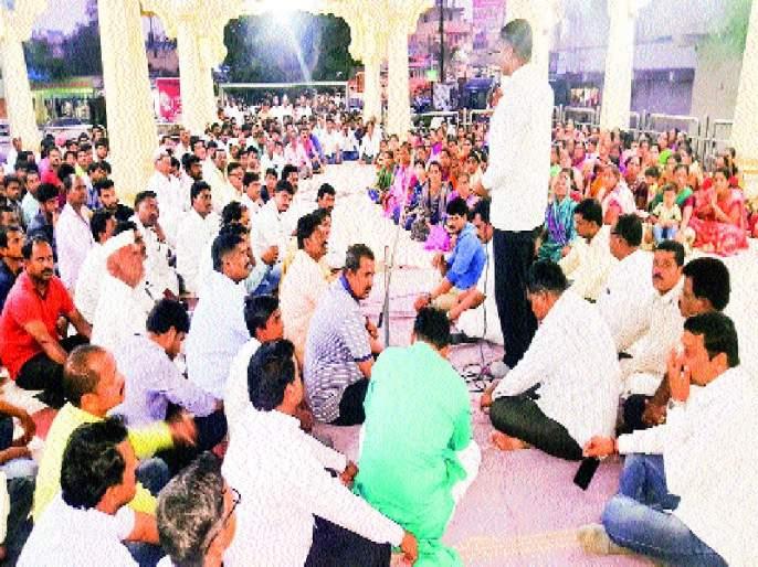 Get arrested, stop the way! Warning in Gansabha in Sanaswadi   अटक कराल, तर रास्ता रोको! सणसवाडी ग्रामसभेत इशारा