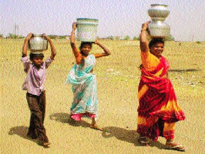 Water scarcity shadows shadows! | जल टंचाईच्या भेसूर सावल्या!