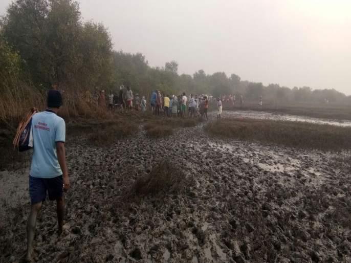 Shahapur: damaged check dam repair work | शहापूर : किना-यावरील फुटलेल्या संरक्षक बंधा-यांच्या दुरुस्तीचे काम दुस-या दिवशीही सुरू