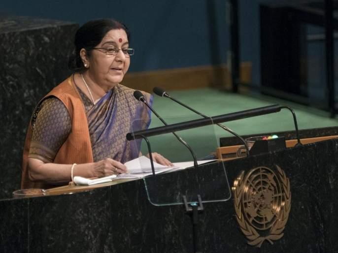 Sushma Swaraj Kulbhushan Jadhav case in Pakistan on Thursday | UN मध्ये पाकिस्तानची खरडपट्टी काढणा-या सुषमा स्वराज कुलभूषण जाधव प्रकरणात उद्या संसदेत देणार निवेदन