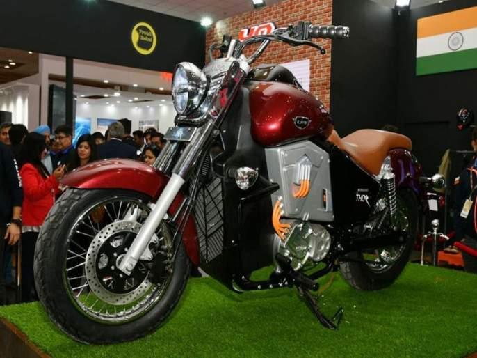 Auto Expo 2018: UM Motorcycle's UM Renegade Thor Bike, Learn The First Electric Cruiser Bike | Auto Expo 2018: UM Motorcycle ची जबरदस्त UM Renegade Thor बाइक, जाणून घ्या पहिल्या इलेक्ट्रिक क्रूझर बाइकचे फीचर्स