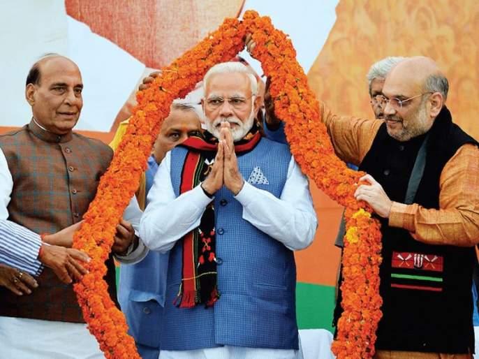 BJP in the northeast! In Tripura, Left Front is defeated, Congress has not two seats in the two states | ईशान्येत भाजपाच! त्रिपुरात डाव्यांचा पराभव,दोन राज्यांत काँग्रेसला नाही एकही जागा