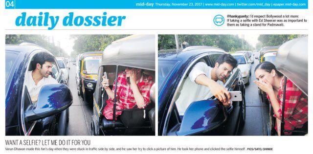 Varun Dhawan gets 'Dos' from Mumbai Police | हे धाडस सिनेमापर्यंतच ठेव, वरूण धवनला मुंबई पोलिसांचा 'डोस'