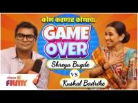 Chala Hawa Yeu Dya Kushal Badrike & Shreya Bugade play face Game Over Questions   Lokmat Filmy