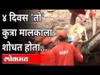 Kolhapur Flood | दरड कोसळली; कुत्रा मालकाची वाट पाहत राहिला | Rain Updates | Maharashtra News