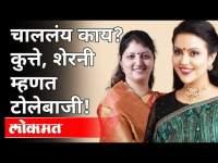 चाललंय काय? कुत्ते, शेरनी म्हणत टोलेबाजी। Rupali Chakankar VS Amruta Phadnavis   Maharashtra News