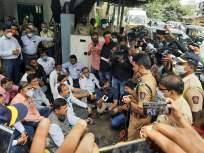 निवृत्त नौदल अधिका-याला झालेल्या मारहाणीच्या निषेधार्थ आंदोलन - Marathi News   Protest against the beating of a retired naval officer   Latest mumbai News at Lokmat.com