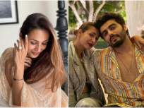 WHAT? मलायका अरोरा-अर्जुन कपूरने गुपचूप उरकला साखरपुडा?   - Marathi News | malaika arora wore engagement ring and fans congratulate to actress | Latest bollywood News at Lokmat.com