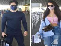 लोकांना घरात राहा सांगतात आणि स्वत: ...! व्हॅकेशनवर निघाले दिशा पाटनी व टायगर श्रॉफ, फोटो पाहून भडकले फॅन्स - Marathi News | disha patani and tiger shroff spotted at mumbai airport headed for maldives vacation | Latest bollywood News at Lokmat.com