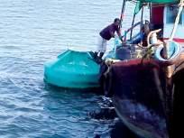गस्तीनौकेला खोल समुद्रात आढळले दिशादर्शक बोया