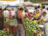 शिरपुरात गुजराथ,हैद्राबादच्या कैरीचा बाजार