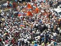 शिवसेना-मनसे कार्यकर्त्यामधील 'तो' तुफान राडा; दगडफेक, नारेबाजी अन् बरंच काही... - Marathi News | Shiv Sena-MNS activist Clashes; Stone throwing, sloganeering and much more | Latest politics Photos at Lokmat.com
