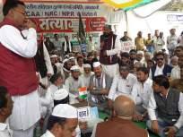 'पुंगी बजाव' आंदोलनाला राज्यमंत्री अब्दुल सत्तारांची भेट