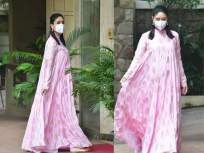 करीना कपूर खान पुन्हा एकदा दिसली बेबी बंप फ्लॉन्ट करताना, चेहऱ्यावर दिसला प्रेग्नेंसी ग्लो - Marathi News | Kareena Kapoor Khan reappears while floating baby bump, pregnancy glow appears on face | Latest bollywood News at Lokmat.com