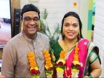 भाऊ कदम यांच्या लग्नाचा फोटो सोशल मीडियावर झालाय व्हायरल, दिसतायेत खूपच वेगळे - Marathi News | bhau kadam wedding pictures viral on social media | Latest television News at Lokmat.com