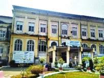 मसिना रुग्णालयाच्या जुन्या इमारतीची पडझड