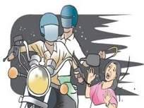 पोलिसांना खुले आव्हान : ग्राहक बनून आले अन् सोनसाखळी हिसकावून पळाले
