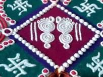 Diwali Rangoli 2020: लक्ष्मी पूजनाच्या दिवशी काढा सुंदर, आकर्षक लक्ष्मीच्या पावलांची सोपी रांगोळी - Marathi News | Diwali Rangoli 2020: latest simple ragoli for laxmi puja to celebrate diwali festival | Latest adhyatmik News at Lokmat.com