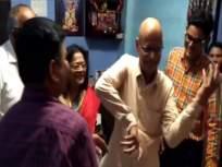 किशोर नांदलस्कर यांच्या निधनानंतर त्यांच्या वाढदिवस सेलिब्रेशनचा व्हिडिओ होतोय व्हायरल - Marathi News | Kishore Nandlaskar birthday celebration video viral on social media after his death | Latest marathi-cinema News at Lokmat.com