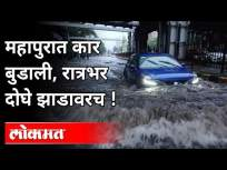 महापुरात कार बुडाली, रात्रभर दोघे झाडावरच! Car Sank In The Flood | Maharashtra News - Marathi News | The car sank in the flood, both of them on the tree all night! Car Sank In The Flood | Maharashtra News | Latest pune Videos at Lokmat.com