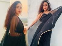 PHOTO: अभिनेत्री अमृता खानविलकरने काळ्या रंगाच्या ड्रेसमध्ये केलं ग्लॅमरस फोटोशूट - Marathi News   Actress amrita khanwilkar did photoshoot in a black dress went viral on internet   Latest marathi-cinema Photos at Lokmat.com