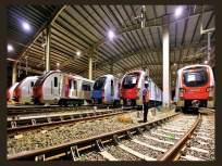 सहा डब्यांच्या मेट्रोची चारकोप आगारात चाचणी; 'मेक इन इंडिया' उपक्रमास चालना - Marathi News   Testing of six-car metro at Charkop depot; Launching 'Make in India' initiative   Latest mumbai News at Lokmat.com