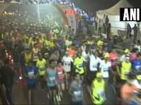 Mumbai Marathon 2019 : मुंबई हाफ मॅरेथॉनमध्ये श्रीणू मुगाता, मीनू प्रजापती यांची बाजी