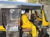 मुंबईतील असाही कोविडयोद्धा! रिक्षावाला जीवाची पर्वा न करता कोरोना रुग्णांना देतोय मोफत सेवा - Marathi News   Man provides free auto rides in mumbai to patients and the needy   Latest mumbai News at Lokmat.com