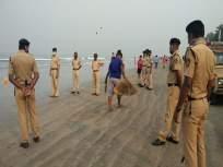 जुहू बीच परिसरात मासेमारीस पोलिसांचा मज्जाव; मच्छिमारांमध्ये तीव्र असंतोष - Marathi News | Fishing police cordon off Juhu Beach area; Severe dissatisfaction among fishermen | Latest mumbai News at Lokmat.com