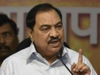 Eknath Khadse: राष्ट्रवादाचा बुरखा घातलेल्या राष्ट्रवादीत गेल्यानं मी निःशब्द, भाजपची पहिली प्रतिक्रिया - Marathi News | The first reaction of the BJP sudhir mungantiwar was when eknath khadse joined the NCP wearing the veil of nationalism | Latest mumbai News at Lokmat.com