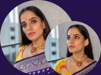मराठमोळ्या प्रिया बापटचे ग्लॅमरस फोटो पाहून व्हाल घायाळ, पहा तिचे फोटो - Marathi News | Marathi Actress Priya Bapat shared photos in saree, see photo | Latest marathi-cinema Photos at Lokmat.com