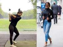 Video: बर्लिनमध्ये 'मॅट्रिक्स 4'च्या शूटिंगदरम्यान प्रियंका चोप्रा दिसली गोल्फ खेळताना, व्हिडीओ होतोय व्हायरल - Marathi News | Video: Priyanka Chopra spotted playing golf during shooting of 'Matrix 4' in Berlin, video goes viral | Latest bollywood News at Lokmat.com