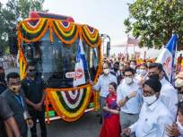 उद्धव ठाकरेंच्या हस्ते २६ इलेक्ट्रिक बसेसचा लोकार्पण सोहळा पडला पार - Marathi News | CM Uddhav Thackeray inaugurates 26 electric buses | Latest mumbai News at Lokmat.com