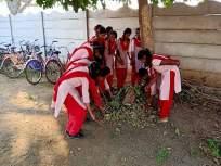 बालदिनाच्या दिवशीविद्यार्थ्यांना आनंददायी ठरली दप्तराविना शाळा