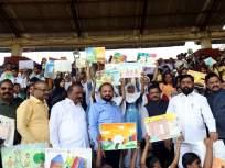 विद्यार्थ्यांच्या रेकॉर्डब्रेक गर्दीत रंगली हिंदुहृदयसम्राट शिवसेनाप्रमुख बाळासाहेब ठाकरे महापौर चषक चित्रकला स्पर्धा