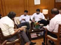 खासदार डॉ. श्रीकांत शिंदे यांनी घेतली मध्य रेल्वेचे डीआरएम शलभ गोईल यांची भेट