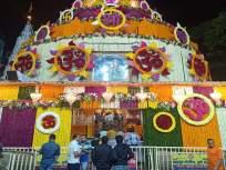 अंगारकी चतुर्थीनिमित्त श्रीमंत दगडूशेठ हलवाई गणपती मंदिर फुलांनी सजले