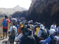 अबब ! एकाच दिवशी तीस हजार पर्यटकांनी दिली सिंहगडला भेट