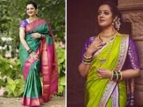 'क्या खूब लगती हो बडी सुंदर दिखती हो', स्पृहा जोशीचे साडीतले फोटो पाहून तुम्हीही हेच म्हणाल.. - Marathi News | Spruha Joshi looks beautiful in saree see her pics gda | Latest marathi-cinema Photos at Lokmat.com