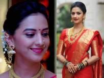 साडीत प्रचंड सुंदर दिसते अभिनेत्री तेजश्री प्रधान, पाहा तिचे साडीतले कधी न पाहिलेले फोटो! - Marathi News | Actress tejashree pradhan looks very beautiful in a saree, see pics | Latest marathi-cinema Photos at Lokmat.com