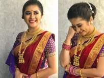 ग्लॅमरस गायत्री दातारने शेअर केले साडीतले फोटोशूट, फोटो पाहून म्हणाला- 'परी म्हणू की अप्सरा' - Marathi News | Gayatri Datar' saree photoshoot went viral on internet | Latest marathi-cinema Photos at Lokmat.com