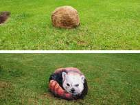 भारीच! पालिकेच्या उद्यानांचे आकर्षण ठरतायेत 'पाषाण चित्रे' - Marathi News   Attractive pictures animals have been drawn on the stones in the three parks at Dahisar   Latest mumbai News at Lokmat.com