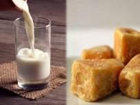 रोज झोपण्याआधी गरम दुधासह गुळाचे सेवन कराल; तर 'या' ५ समस्यांसाठी दवाखान्यात जाणं विसराल - Marathi News | What are the benefits of consuming jaggery and milk together | Latest health News at Lokmat.com