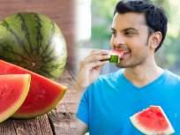 एका दिवसात कलिंगड किती आणि कधी खायला हवं? तज्ज्ञांनी सांगितले फायदे अन् नुकसान - Marathi News | How much watermelon should you eat in a day know side effects of eating too much watermelon | Latest health News at Lokmat.com