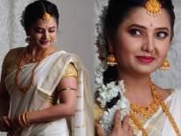 अय्यो रामा..प्राजक्ता माळी दाक्षिणात्य लूकमध्ये दिसतेय की लय भारी! - Marathi News | Ayyo Rama..Prajakta Mali looks in the southern look that the rhythm is heavy! | Latest marathi-cinema Photos at Lokmat.com