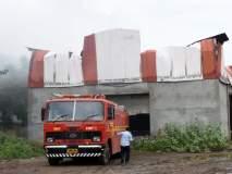 धुळे एमआयडीसीत दोन दुकानाला आग